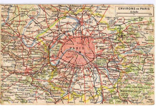 carte paris et banlieue