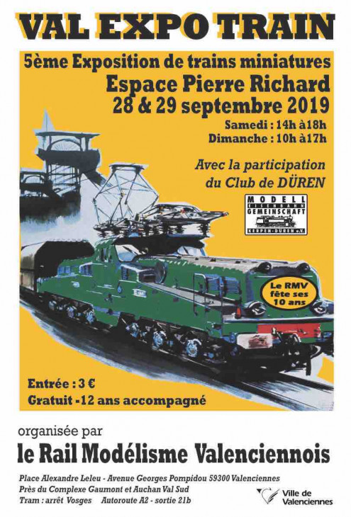 28 et 29 septembre : Val expo train à Valenciennes (Noord) File