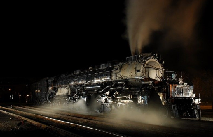 Union Pacific Big Boy Locomotive #4012 Steamed Up At Steamtown National Historic Site in Scranton Pa, Kenny Ganz R2.jpg