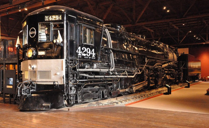 Southern Pacific 4294, a cab-forward steam locomotive, on display at the California State Railroad Museum in Sacramento, California.R.jpg